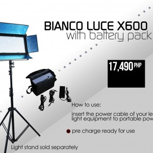 Bianco Luce X600 KIT with Battery Pack