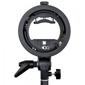 Bracket Holder with Elinchrom Mount with Free Elichrom Snoot