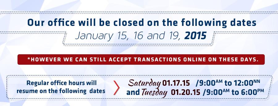January 15,16 19 2015