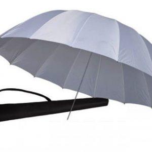 White translucent parabolic umbrella by Photozuela