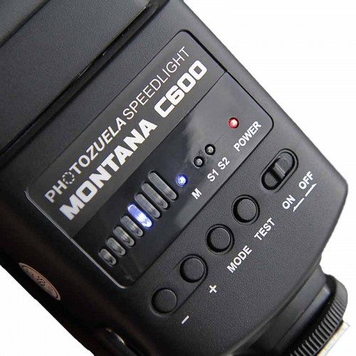 Montana C600 Speedlight Flash for Studio Photography and Fashion Photography by Photozuela